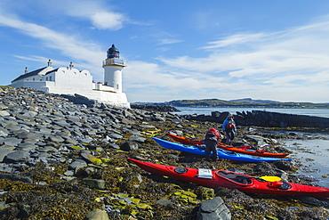 Sea kayaking around the Inner Hebrides, Island of Fladda, Scotland, United Kingdom, Europe