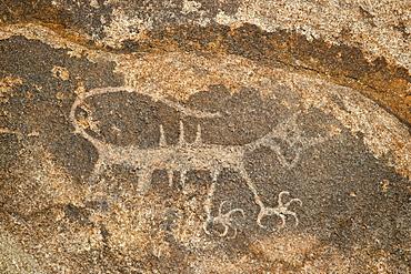 Petroglyph, Alabama Hills, Inyo National Forest, California, United States of America, North America