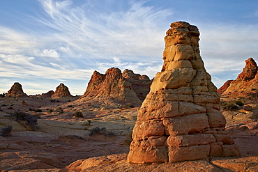 Sandstone cones at first light, Coyote Buttes Wilderness, Vermilion Cliffs National Monument, Arizona, United States of America, North America