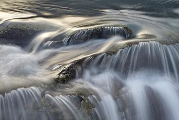 Cascade detail, Jasper National Park, UNESCO World Heritage Site, Alberta, Canada, North America