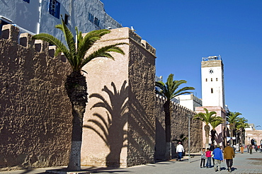 View of the ramparts of the Old City, UNESCO World Heritage Site, Essaouira, Morocco, North Africa, Africa