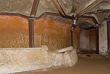 Etruscan necropolis of Madonna dell'Olivo, Grotta della Regina, Tuscania, Viterbo, Lazio, Italy, Europe