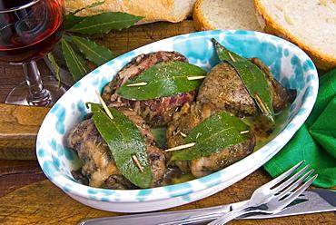 Fegatelli (pork liver Tuscan style), Tuscany, Italy, Europe