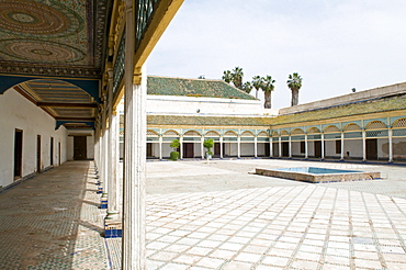 Bahia Palace, Marrakech, Morocco, North Africa, Africa