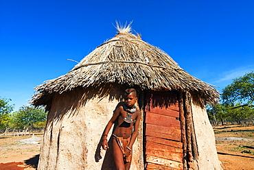 Himba boy, Kaokoveld, Namibia, Africa