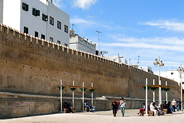 City ramparts, Medina, Tetouan, UNESCO World Heritage Site, Morocco, North Africa, Africa