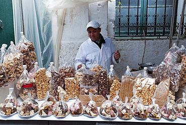 Nougat seller, Medina, Tetouan, Morocco, North Africa, Africa