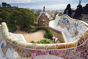 Guell Park (Parc Guell), Unesco World Heritage Site, Barcelona, Catalunya (Catalonia) (Cataluna), Spain, Europe
