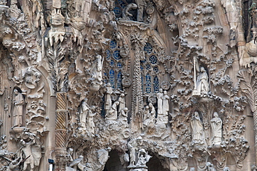 Sagrada Familia Cathedral by Gaudi, UNESCO World Heritage Site, Barcelona, Catalunya (Catalonia) (Cataluna), Spain, Europe