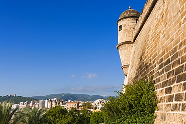 City ramparts, Palma de Mallorca, Majorca, Balearic Islands, Spain, Europe