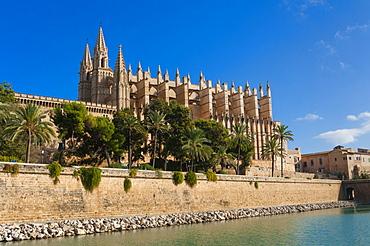 Cathedral of Santa Maria of Palma (La Seu), Palma de Mallorca, Majorca, Balearic Islands, Spain, Mediterranean, Europe