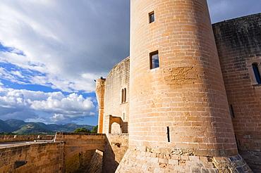 Bellver Castle, dating from the 14th century, Palma de Mallorca, Majorca, Balearic Islands, Spain, Europe