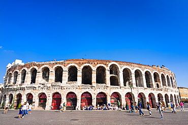 The Roman Arena, Verona, UNESCO World Heritage Site, Veneto, Italy, Europe