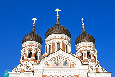 Russian Orthodox Alexander Nevsky cathedral in Toompea, Old Town, UNESCO World Heritage Site, Tallinn, Estonia, Baltic States