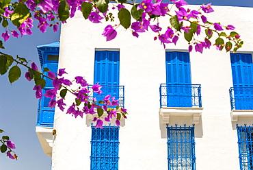 Balcony, Sidi Bou said, Tunisia, North Africa, Africa
