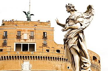 Mausoleum of Hadrian also known as Castel Sant'Angelo, Unesco World Heritage Site, Rome, Latium, Italy, Europe