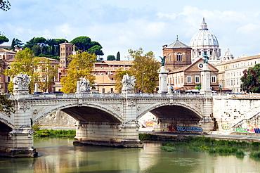 Ponte Vittorio Emanuele II over the River Tiber, Rome, Lazio, Italy, Europe