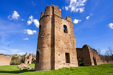 Carceres towers, the circus, Imperial residence of Massenzio, Appian Way, UNESCO World Heritage Site, Rome, Lazio, Italy, Europe