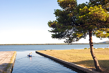 Orbetello Lagoon, Tyrrhenian Sea, Orbetello, Province of Grosseto, Maremma, Tuscany, Italy, Europe