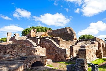 Terme del Foro (Public bath), Ostia Antica archaeological site, Ostia, Rome province, Lazio, Italy, Europe