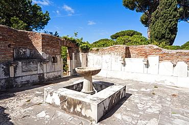 Ninfeo degli Eroti, Ostia Antica archaeological site, Ostia, Rome province, Lazio, Italy, Europe