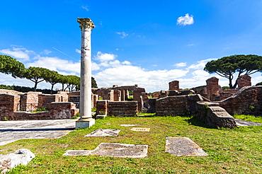 Terme del Mitra, Ostia Antica archaeological site, Ostia, Rome province, Lazio, Italy, Europe