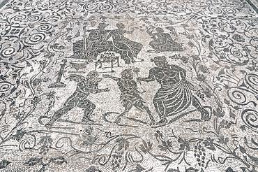 Mosaic di Bacco e Arianna, Block of Bacchus and Arianna, Ostia Antica archaeological site, Ostia, Rome province, Lazio, Italy, Europe