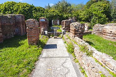 Mitreo Planta Pedis, Ostia Antica archaeological site, Ostia, Rome province, Lazio, Italy, Europe