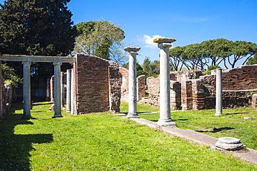 Basilica Cristiana, Ostia Antica archaeological site, Ostia, Rome province, Lazio, Italy, Europe