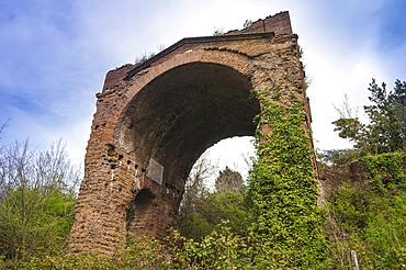 Triumphal arch, Circus of Maxentius, Appian Way, Rome, Lazio, Italy, Europe