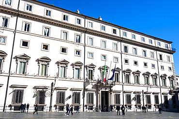 Palazzo Chigi (residence of the Prime Minister of the Italian Republic), Piazza Colonna, Rome, Lazio, Italy, Europe