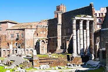 The Forum of Augustus, Temple of Mars Ultor, UNESCO World Heritage Site, Rome, Lazio, Italy, Europe