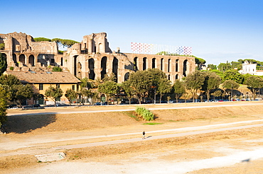 Circus Maximus, remains of imperial palaces (Domus Augustana and Severiana), UNESCO World Heritage Site, Rome, Lazio, Italy, Europe