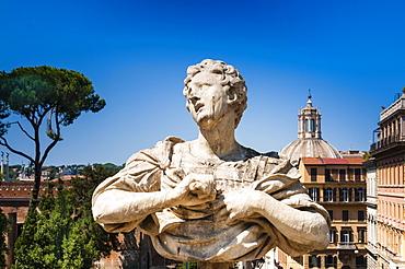 Statue at the Gardens of Villa Aldobrandini, UNESCO World Heritage Site, Rome, Lazio, Italy, Europe