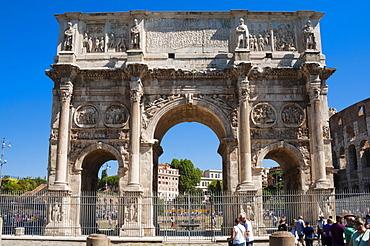 Arch of Constantine (Arco di Costantino), UNESCO World Heritage Site, Rome, Lazio, Italy, Europe