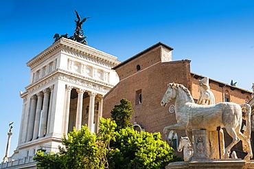 Pollux, Dioskourus on top of Cordonata, Campidoglio (Capitoline Hill), Rome, UNESCO World Heritage Site, Lazio, Italy, Europe