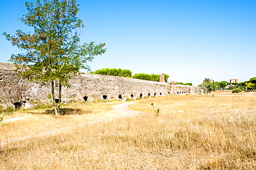 Parco degli Acquedotti, Appian Way Regional Park, Remains of Roman aqueduct Felice, Rome, Lazio, Italy, Europe