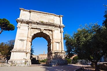 Arch of Titus (Arco di Tito), Roman Forum, UNESCO World Heritage Site, Rome, Lazio, Italy, Europe
