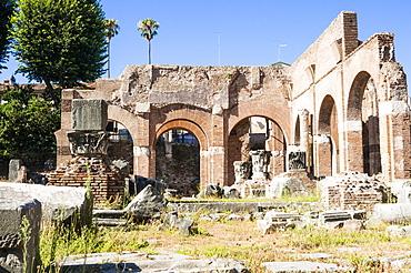 Basilica Julia, Roman Forum, UNESCO World Heritage Site, Rome, Lazio, Italy, Europe