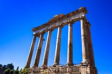 Temple of Saturn, Roman Forum, UNESCO World Heritage Site, Rome, Lazio, Italy, Europe