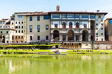 Uffizi Palace and Arno river,