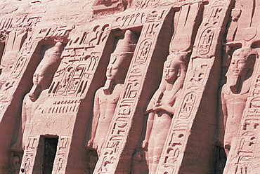 Queen Nefertari's Temple, dedicated to Hathor, Abu Simbel, UNESCO World Heritage Site, Nubia, Egypt, North Africa, Africa