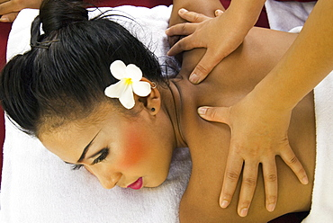 Girl having a massage, Thailand, Southeast Asia, Asia