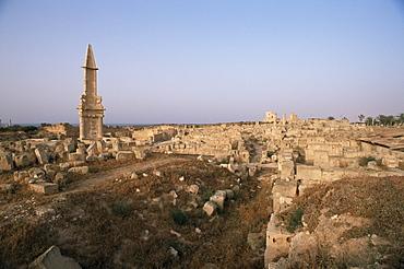 Punic mausoleum, Sabrata (Sabratha), Tripolitania, Libya, North Africa, Africa