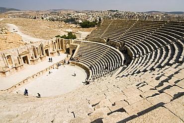 South Theatre, Jerash (Gerasa) a Roman Decapolis city, Jordan, Middle East