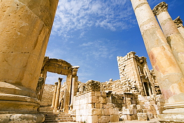 Tha Cathedral, Jerash (Gerasa), a Roman Decapolis city, Jordan, Middle East