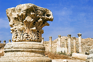 South Decumanus,  Jerash (Gerasa), a Roman Decapolis city, Jordan, Middle East