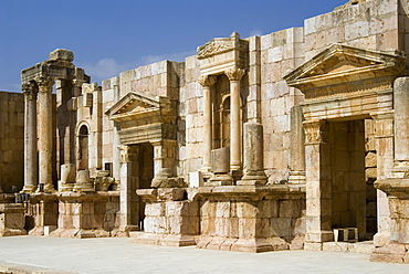 South Theatre, Jerash (Gerasa), a Roman Decapolis city, Jordan, Middle East