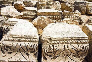 Capitals, Jerash (Gerasa), a Roman Decapolis City, Jordan, Middle East