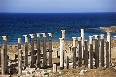 Eastern basilica, Apollonia, Cyrenaica, Libya, North Africa, Africa